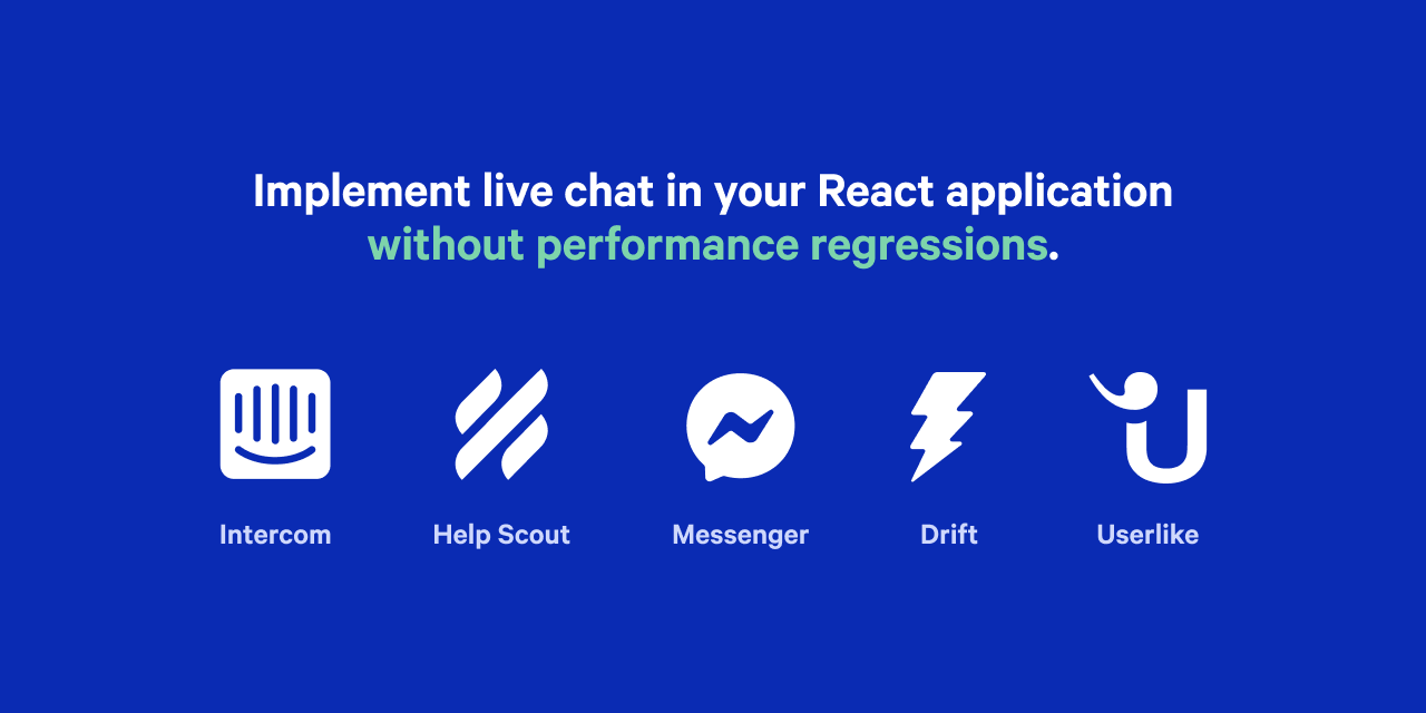 List of live chat tools supported by React Live Chat Loader.