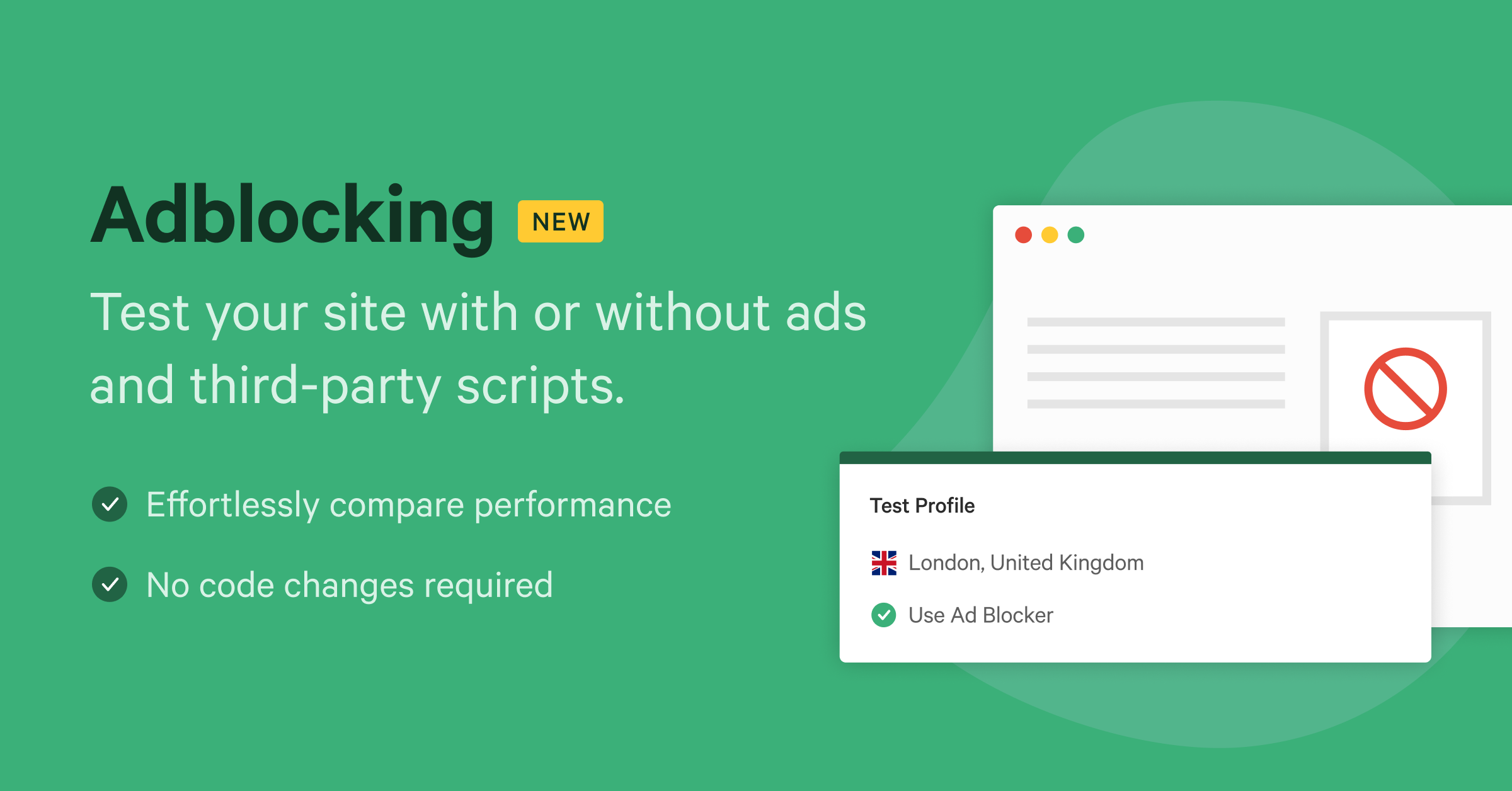 Test the impact of ads and third party scripts